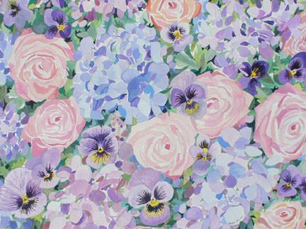 Spring Roses & Hydrangea Notecards_1