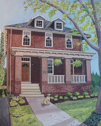 Custom portrait of a Home/Business Watercolor_1