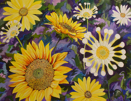 Sunflowers & Spoon Mums_1