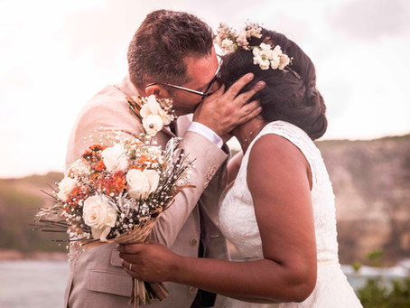 Le mariage bohème et intimiste de Nadège & Jacques en Guadeloupe