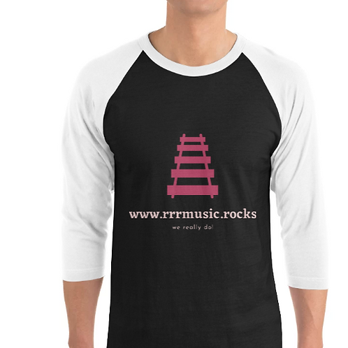 3/4 length sleeve rocker shirt with logo