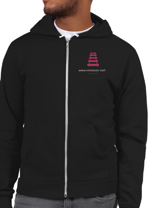 Unisex Hoodie w logo and zipper