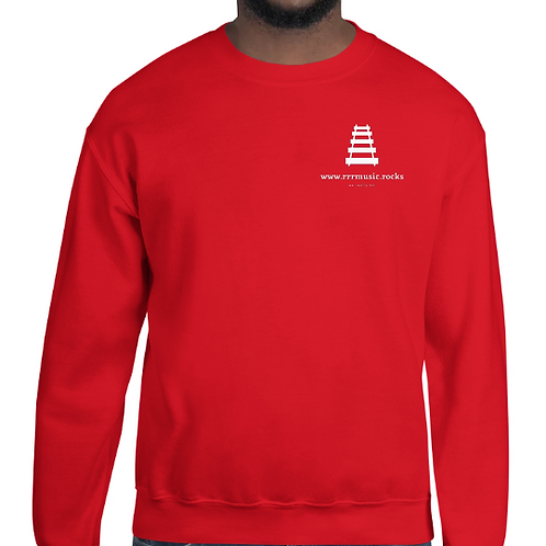 rrrmusic.rocks logo sweatshirt, Gildan