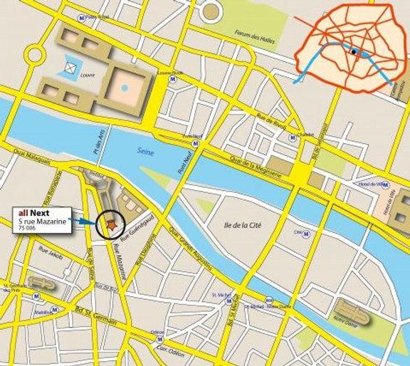 allnext plan map carte contacts