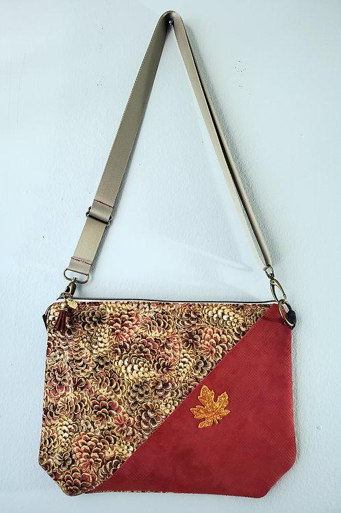 Autumn Joy Leather Accent Shoulder Bag