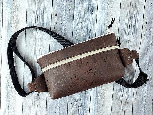 Brown Natural Cork Bum Bag