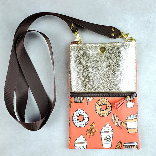 Pumpkin Spice Forage Bag with Vegan Leather