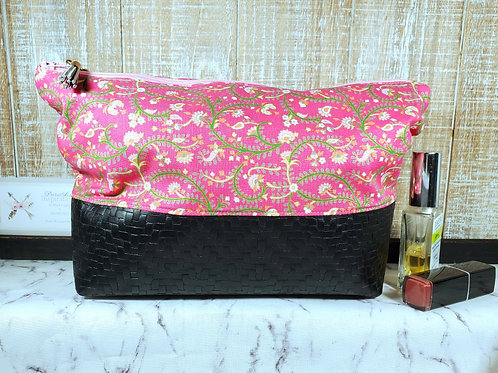 Spring Florals Large Cosmetic Bag