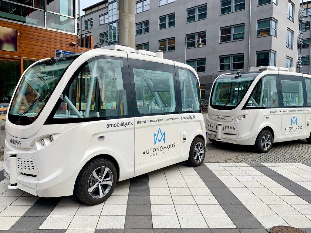 autonomous shuttle buses in Gothenburg