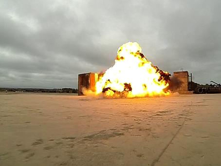 Blast testing on the range