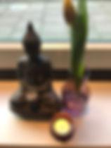 Boeddha,kaarsje,bloem.JPG