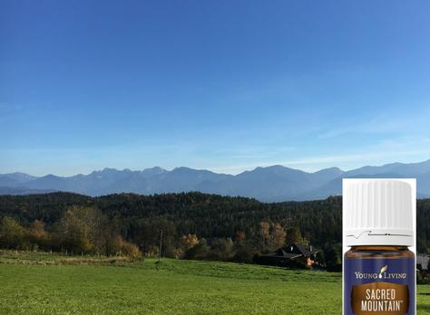 De olie Sacred Mountain – de natuur en de bergen in een flesje