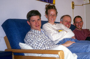 Gerrit, Kimber, Paul, and Brad Wallin, Livermoe, CA, 1999.