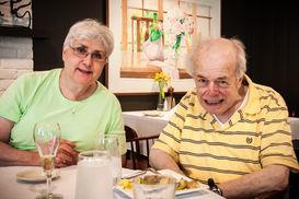 Paul and Cynthia, 50th wedding anniversary lunch, 2014.