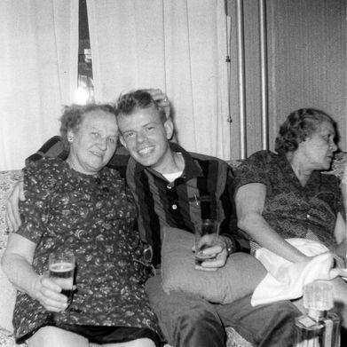 With Cynthia's family. Baltimore, 1964