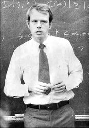 Lecture in his early years in the Computer Science Department, about 1968.