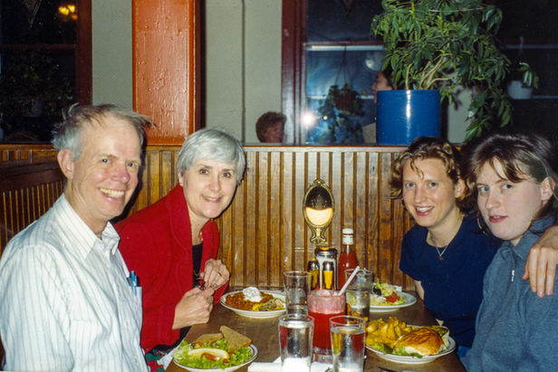 Paul and Cynthia with Marie-Louise and Beatrice Gander, circa 1999.