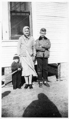 Paul with maternal grandmother, Malinda Lou, and brother, Doyle.  Bullard, TX, circa 1953.