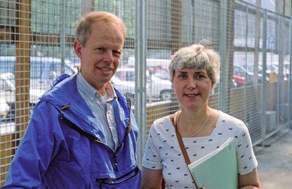 Paul and Cynthia, Zuerich Hauptbahnhof, 1990