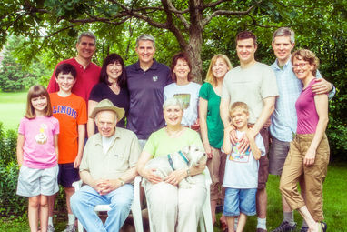 Paul and family, Champaign, 2009.