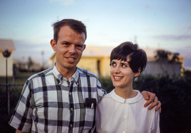 Paul and Cynthia, College Station, TX, 1967