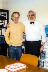 Paul and Gene Golub, UIUC Digital Computer Lab, Urbana, 1988