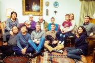 """Paul with """"family"""", Thanksgiving, Champaign, 2013."""