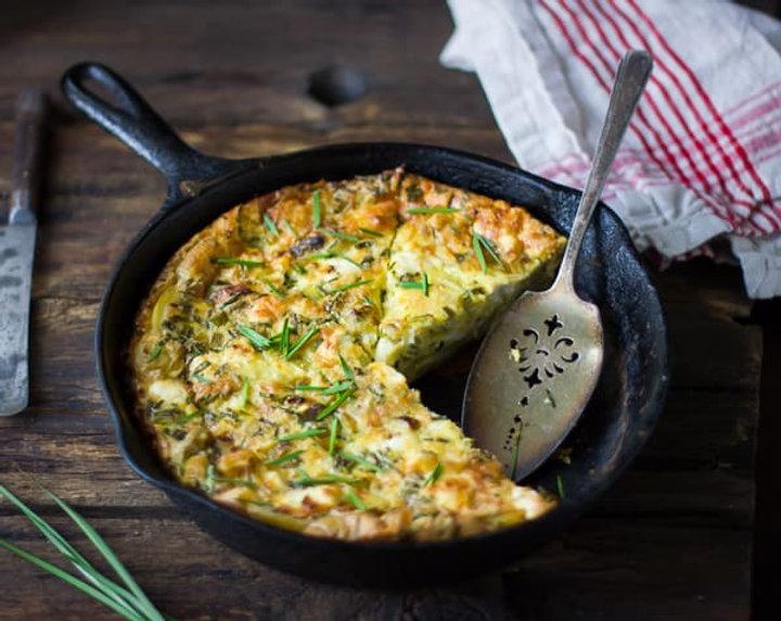 green-garlic-potato-crustless-skillet-qu