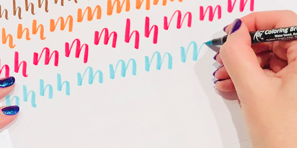 Brush Lettering and Heat Embossing (Stitches and Craft)