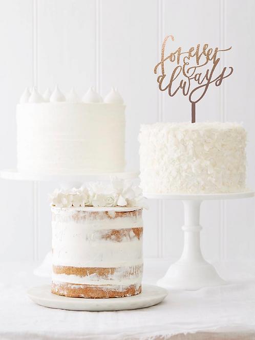 Cake topper - forever & always