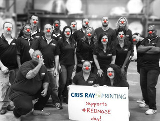 Cris Ray Printing Supports Red Nose Day!