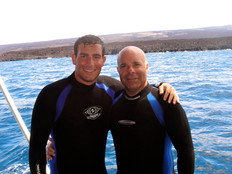 Shark Diving with Son Ryan