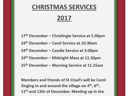 St Chad's Church Christmas Services