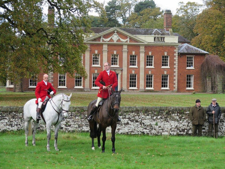 Opening Meet of the North Staffordshire Hunt on Saturday, 4 November 2017 in Norton in Hales
