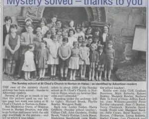 ST CHAD'S SUNDAY SCHOOL – 1959
