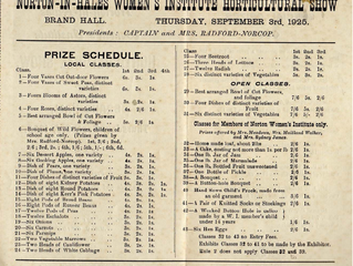 Horticultural Show Schedule 1925