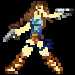 Pixel Art Lara Croft (8Bits)