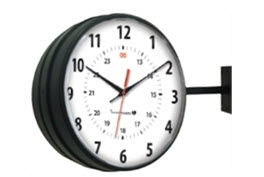 Innovation Wireless Black Hanging Clock-
