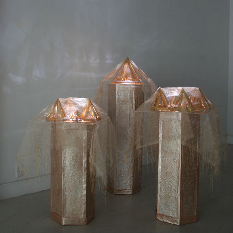 Cosmic Fishnet Plinths