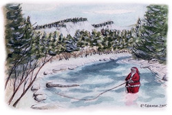Santa on the Swift Diamond River