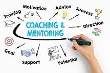 Coaching and Mentoring Concept. Chart wi