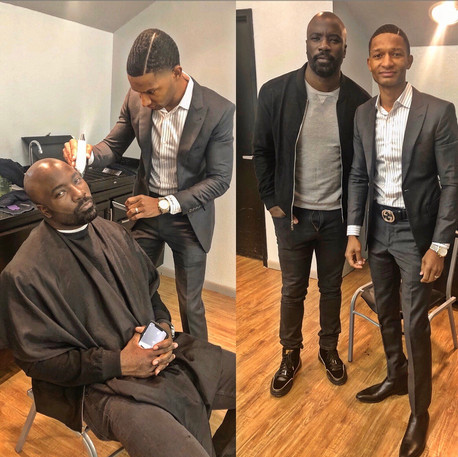 Movie set grooming with Actor Mike Colter #LukeCage