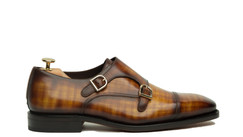 PAPIRO PATINA DOUBLE MONK STRAPS