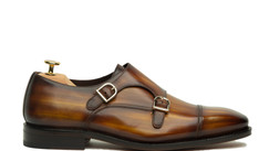 REGULAR PATINA DOUBLE MONK STRAP