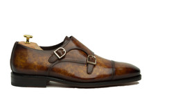 MARBLE PATINA DOUBLE MONK STRAPS