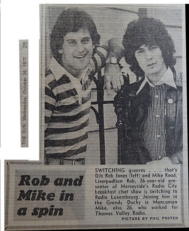 1977-10-26 Mike Read joins Radio Luxembo