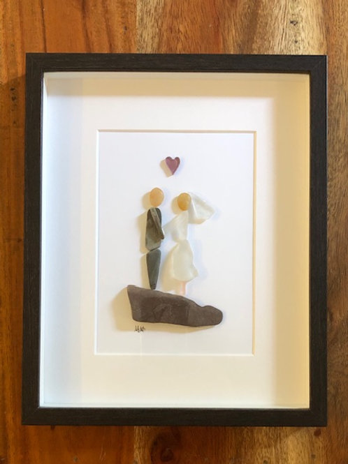 Wedding Couple Glass Art Picture