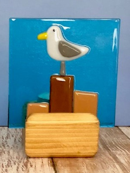Perched Seagull Tealight Candle Holder