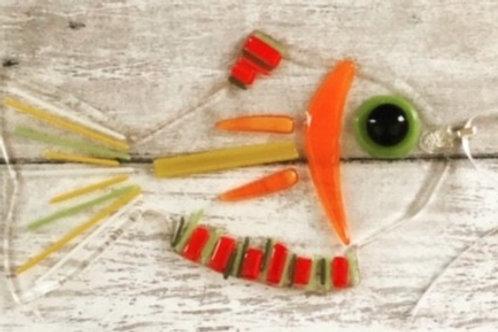 Orange Fish Ornament
