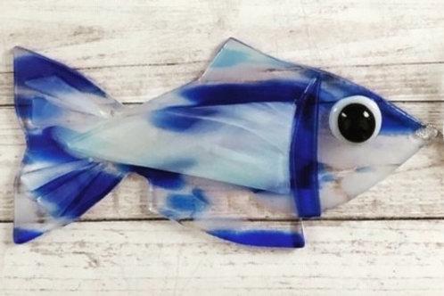 Blue Swirl Fish Ornament